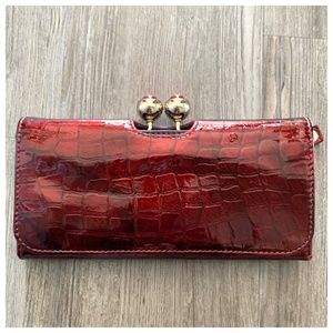 Ted Baker Patent Leather Kiss-lock Wallet